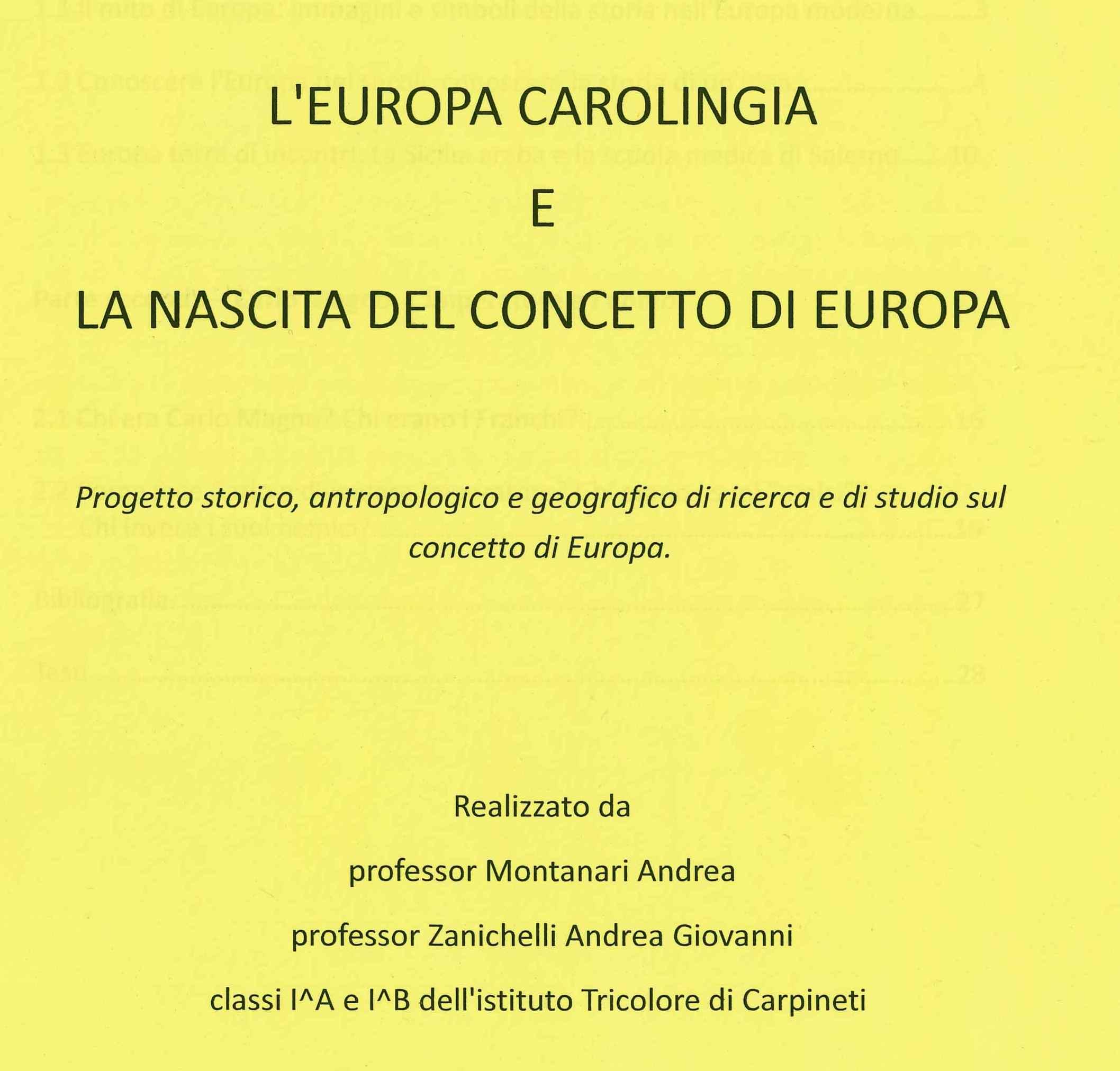 L'Europa carolingia e la nascita del concetto Europa