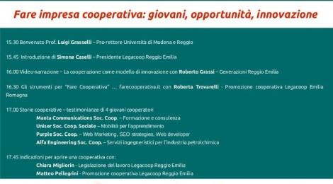 """""""Fare impresa cooperativa: giovani, opportunità, innovazione"""""""