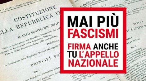 """MANIFESTAZIONE NAZIONALE """"MAI PIÙ FASCISMI – MAI PIÙ RAZZISMI"""" ANCHE LEGACOOP EMILIA OVEST HA ADERITO ALL'APPELLO"""